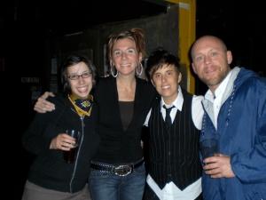 Tara and Andrea with Sara Brickman and Buddy Wakefield