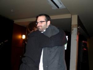pre-show hug from Jeanann Verlee