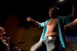 Christian Drake, shirtless
