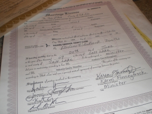 The paperwork to prove it