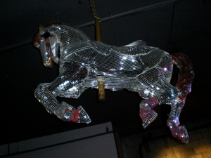 "One of our venues had a mirror ball horse over the stage and Shappy called it ""the horse that poops 10s."" Everytime a poet got a ten, he would whinny and make a pooping noise."